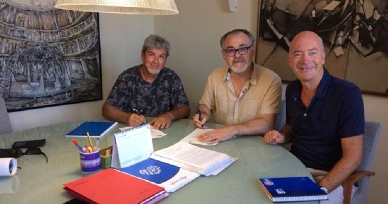 Firma Acuerdo entre AFCOPMA Ayto de PEDREGUER Tren Costa Marina Alta