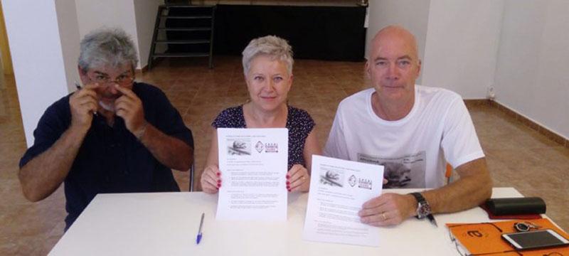 Firma Acuerdo entre AFCOPMA Casal Cultural Jaime I, Pedreguer Tren Costa Marina Alta
